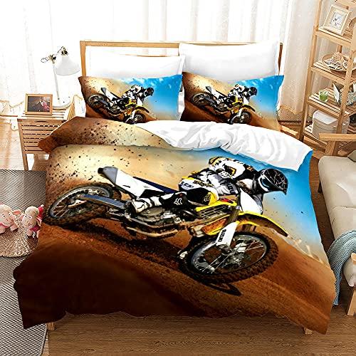 Bedclothes-Blanket Juego de Cama Matrimonio,SANDET Ropa de Cama de Motocicleta de la impresión de Tres Piezas-4_240 * 220