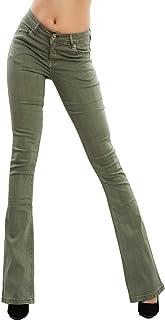 Toocool F36-M6129 - Pantalones vaqueros para mujer con estampado de elefante, para campana