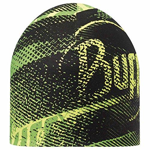Buff Coolmax Reversible Hat Reflective - Flash Logo Jaune - Encre Bleue