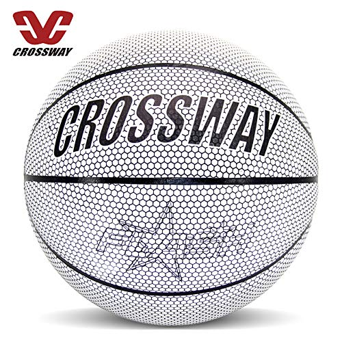 Buy Aapxi Game Gear Outdoor Sports Holographic Glowing Reflective Basketball Holographic Basketball ...