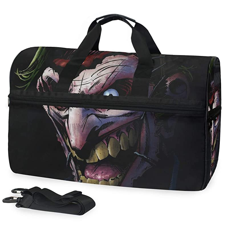 Joker Extra Large Sports Gym Equipment Weekend Travel Duffel Bag Adjustable Shoulder Men Women yjlunjuq180362