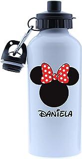 Kembilove Cantimplora Infantil Personalizada – Botella Personalizada de Aluminio con el Nombre del Niño o Niña – Capacidad 500 ml peques – Cantimploras de Unicornio, Mickey, Minnie