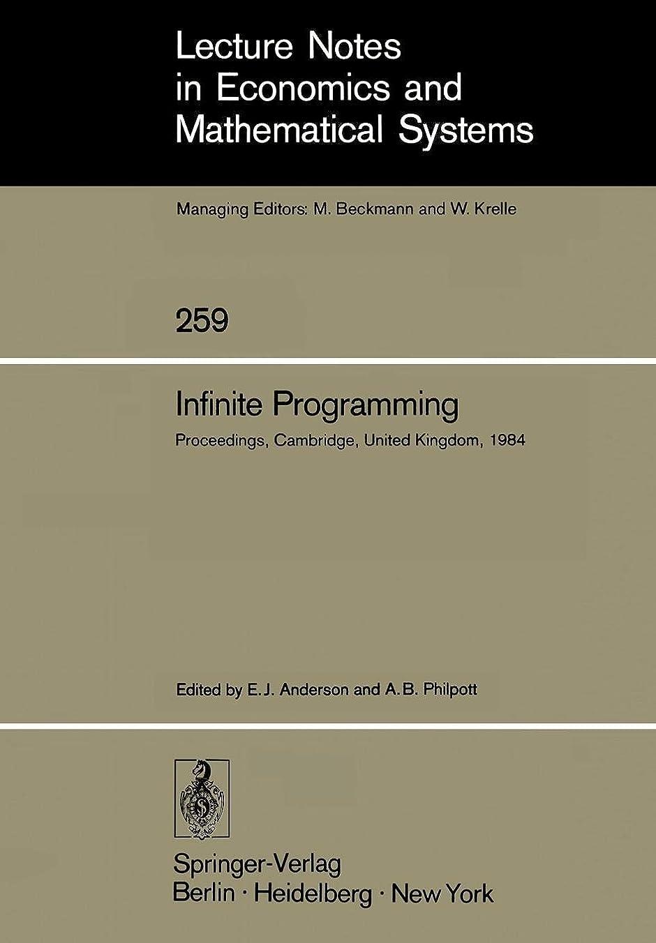 鈍い後ろ、背後、背面(部能力Infinite Programming: Proceedings of an International Symposium on Infinite Dimensional Linear Programming Churchill College, Cambridge, United Kingdom, September 7–10, 1984 (Lecture Notes in Economics and Mathematical Systems)