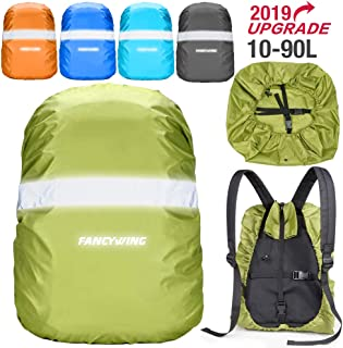FANCYWING Waterproof Backpack Rain Cover with Reflective Strap, Upgraded 10-90L Non-Slip Rainproof Backpack Cover for Hiking, Camping, Hunting, Rain Cycling, etc.