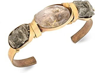 Sectioned Wrap Bracelet with Raw Pyrite Designed by Jan Michaels