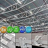 Set di 8 vasche a LED da 36 watt Lampade per officina a tubi umidi per l'industria dell'illuminazione diurna