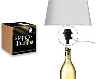 La Luce Adaptateur bouteille e27, kit adaptateur lampe bouteille, douille lampe bouteille, pour magnum champagne, champagn...
