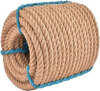 LXM Corde de jute naturelle - 30 mm d'épaisseur - Corde de chanvre solide - Pour travaux manuels, escalade, ancre, hamac, ...