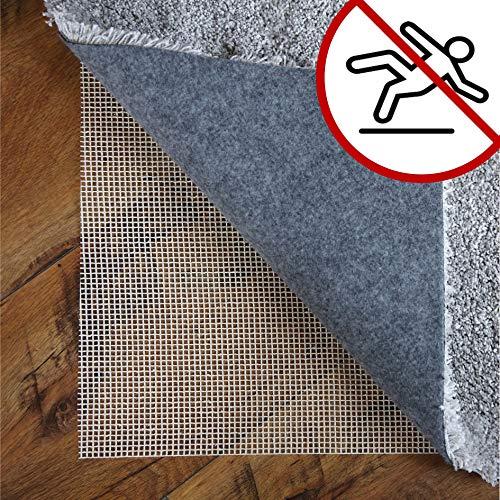 LILENO HOME Anti Rutsch Teppichunterlage aus Glasfaser (80x150 cm) - Fußbodenheizung geeignete Teppich Antirutschmatte für Glatte und Harte Böden - Teppichstopper für EIN sicheres Zuhause