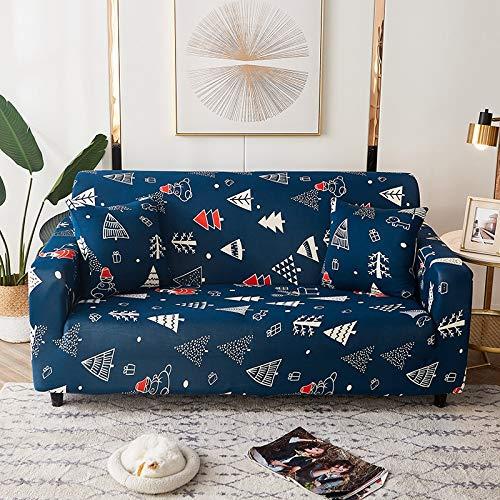 PPMP Fundas de sofá geométricas elásticas Fundas de sofá elásticas para Sala de Estar Funda sofá Silla Funda de sofá Decoración para el hogar Funda de sofá A17 2 plazas