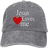 Jesus Loves Me - Gorra de béisbol unisex unisex con correa trasera ajustable para camionero