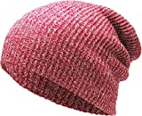 KBW-10 RED Slouchy Beanie Baggy Style Skull Cap Winter Unisex Ski Hat