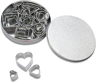 Emporte-pièces Acier Inoxydable 24PCS, Cookie Gâteau Cutters avec Boîte, DIY Mini Ustensiles à pâtisserie avec Heart Star ...