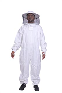 BeeAttire Bee Suit with Round Hood - Cotton Thick Sting-less Protection Pro beekeeper Suit beekeeper costume adult bee kee...