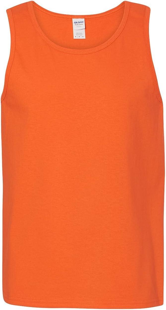 Heavy Cotton Tank Top (G520) Orange, L (Pack of 12)