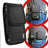 scozzi Handy Gürteltasche quer Gürtel Tasche Handytasche Handyhalterung Halterung universal (kompatibel mit Samsung,iPhone,Huawei) S20 S10 S9 A71 A51 M40 P40 P30 12 11 X XS XR Plus Ultra Mini Lite Pro