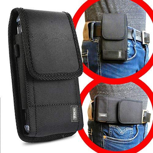 scozzi Handy Gürteltasche quer Gürtel Tasche Handytasche Handyhalterung Halterung universal (kompatibel mit Samsung,iPhone,Huawei) S20 S10 S9 A71 A51 M40 P40 P30 P20 11 X XS XR 8 Plus Ultra Lite Pro