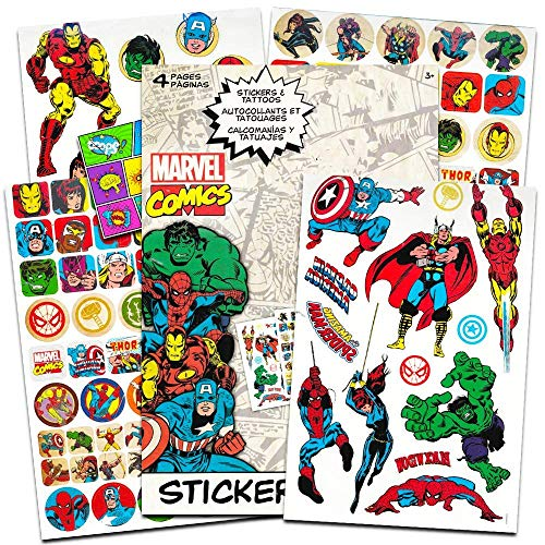 Marvel Comics Avengers Fun Set Avengers Stickers & Avengers Tattoos & Specialty Popart Sticker