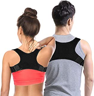 JM-Y Posture Corrector for Men and Women, Upper Back Brace for Clavicle Support, Lower Back Support, Brace to Improve Slouch, Back Pain, Thoracic Kyphosis