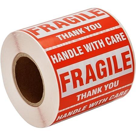 14cmx5cm 500 pcs Extra Large Fragile Stickers Labels 140mm X 50mm
