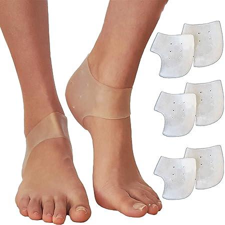 3 Pair Gel Heel Cups Plantar Fasciitis Inserts Silicone Gel Heel Pads Bone Spur