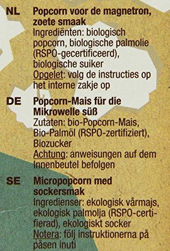 Yum Kah BIO Mikrowellen Popcorn süß, glutenfrei - 6
