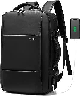 リュック メンズ 3WAYビジネスリュック 22L-37Lマチ拡張 15.6インチ PC リュック 大容量 パソコン バックパック リュックサック180°開口 盗難防止 USB充電ポート付き 出張 旅行 通学 通勤 アウトドア旅行 男女兼用 Tonsun
