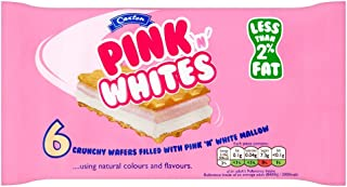 Caxton Pink and White Wafers 6 Pack 60g