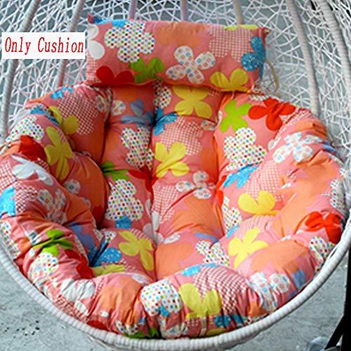 Coussin de SièGe Balançqire Lavable Amovible ÉPaissir Souples Confortable Oeuf Suspendu Hamac Chaise Coussins sans Stand Multi Couleur par générique,Color2