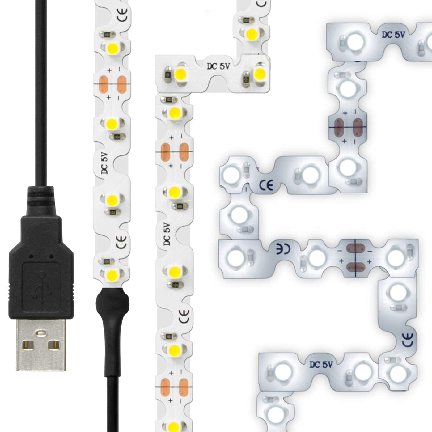 雪だるまを作る貧困ソロLEDテープライト (曲がる) 貼レルヤ USB (昼光色) 2m 120灯 角に合わせて曲げながら両面テープで貼り付け可能なフレキシブルタイプ ハサミでカットして長さの変更ができる 6000K JTT Online LEDTLMHAUDL2M