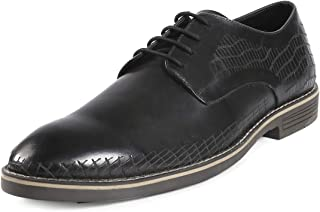 Bacca Bucci® Men's Handmade Genuine Leather Modern Classic Lace-up Lazer Worked Formal Business Dress Shoes for Men