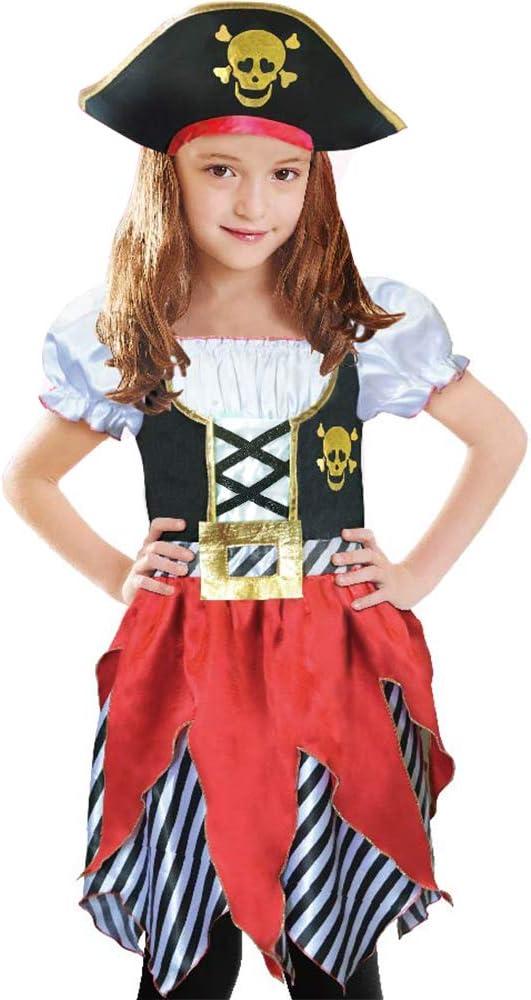 Size 4 Girl/'s Pirate Dress /& Scarf