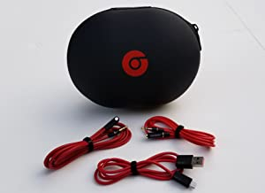 Matte Headphone Case for Beats Monster by Dr. Dre Studio, Wireless Studio, Solo Headphones INCLUDES 3 Accessory Cables (1