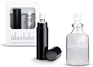 Überlube Lubricant Home and Travel Kit | Latex-Safe Natural Silicone Lube with Vitamin E | Unscented, Flavorless, Zero Res...