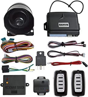 BANVIE Car Security Alarm System with Microwave Sensor & Shock Sensor