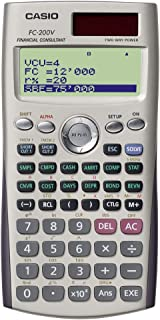 Casio FC-200V Calculator Financial Consultant silver