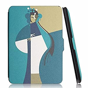 MOCA Protective PU Leather Flip Cover for Amazon Kindle Paperwhite 6-inch