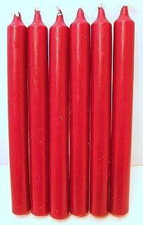 N/X Vela Roja (Tamaño 2 x 21 cm),Velas Estilo Bistró,10 Unidades