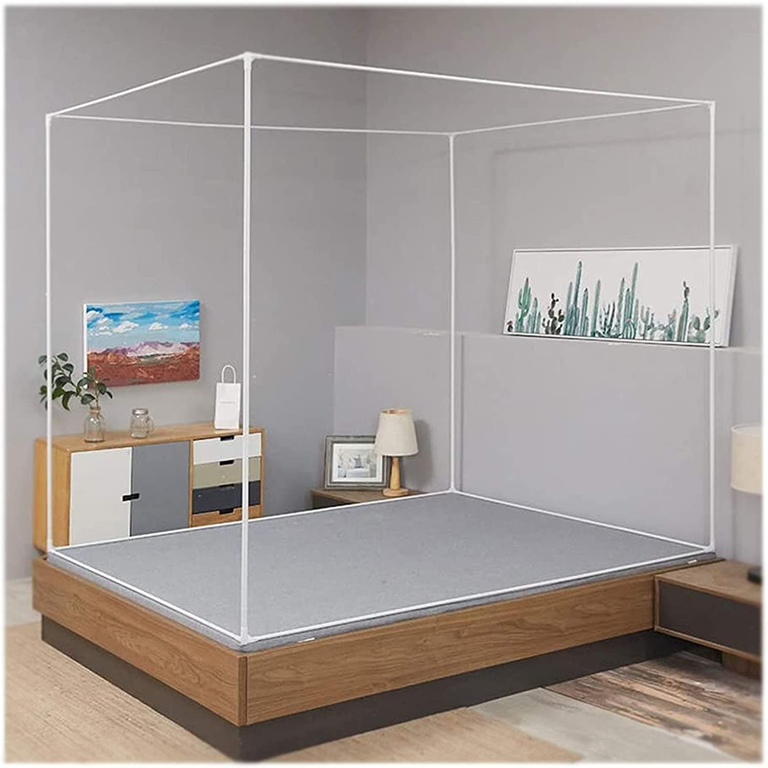 Superlatite HEWYHAT Indefinitely Mosquito Net Frame Stainless Steel 4 Bed C Canopy