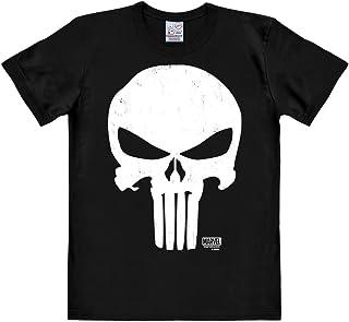 Logoshirt Camiseta Castigador - Camiseta Marvel Comics - Punisher - Camiseta con Cuello Redondo Negro - Diseño Original co...