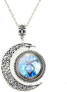 Moon Pendant Shadowhunters Angelic Power Rune Necklace Shadowhunters Jewelry Fashion Moon Necklace Gift