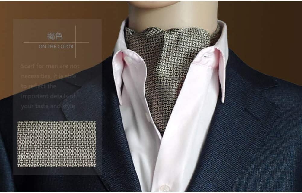 WOXHY Gold Paisley Floral Silk Men Blue Cravat Jacquard Ties Woven Party Shirt Elegant