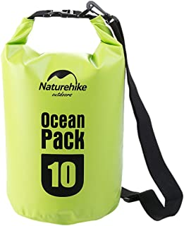 NatureHike(ネイチャーハイク) プールバッグ ウォータープルーフ マリンバッグ ストラップ付 [500D] 10L 【正規品】 グリーン FS15M010-J