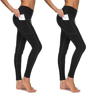 76128cf9e0 HOFI High Waist Yoga Pants for Women Side & Inner Pockets with Tummy  Control Sports Leggings