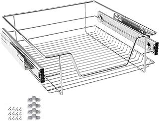 HENGMEI Cajón Armario cajón extraíble cajón de Cocina Estante Estantería de Cocina Cesta auszug Dormitorio cajón, 50 cm
