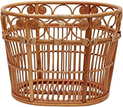 Clothes Bin Dirty Clothes Storage Basket Original Vine Rattan Bathroom Storage Basket Double Number (Size : 48M)