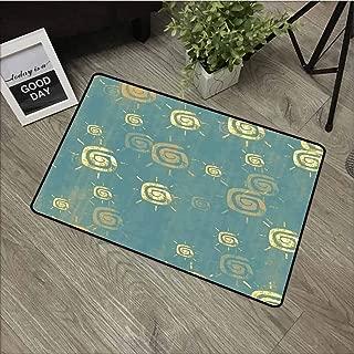 Linhomedecor Front Door mat Carpet Machine Washable Door mat W15.7 x L23.6 Inch,