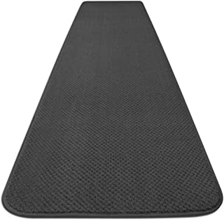 House, Home and More Skid-Resistant Carpet Runner - Gray - 4 Feet X 27 Inches