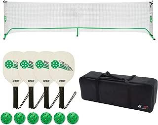 GSE Games & Sports Expert Professional Portable Pickleball Complete Set. Including Pickleball Net System, 4 Pickleball Paddles, 6 Pickleballs