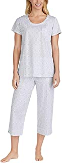 Women's 2 Piece Capri Pajama Set, Variety (XS, Gray)